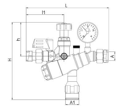 syr artiga f llcombi ba 6628 dn 20 druckminderer manometer systemtrenner ebay. Black Bedroom Furniture Sets. Home Design Ideas