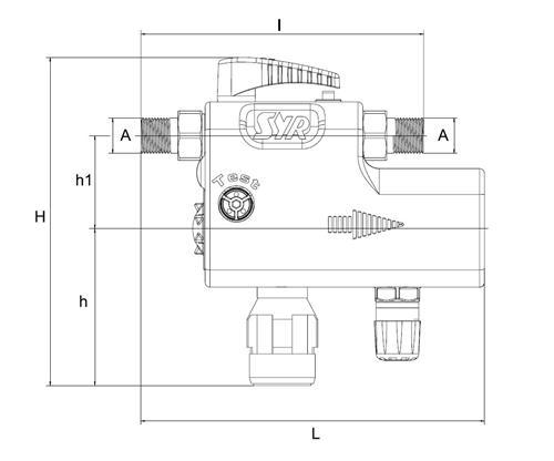 artiga f llarmatur ca 6828 druckminderer systemtrenner absperrung manometer schmutzf nger. Black Bedroom Furniture Sets. Home Design Ideas