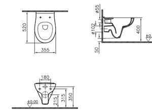 vitra wc muro scarico profondo vitraclean senza sedile ebay. Black Bedroom Furniture Sets. Home Design Ideas