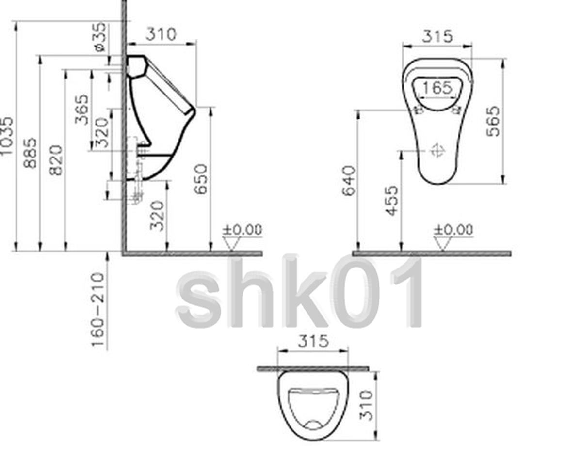 diana plus urinal di001801001 aktiv4you 6201 pissuar urinalbecken urinale ebay. Black Bedroom Furniture Sets. Home Design Ideas