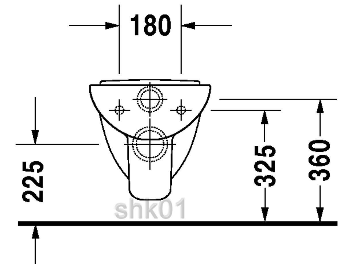 duravit 2211090000 wand wc d code compact 480mm tiefsp ler wandh ngend wei ebay. Black Bedroom Furniture Sets. Home Design Ideas