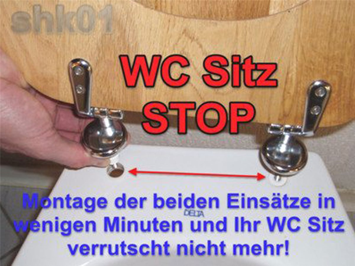wc sitz stop stabile deckel befestigung sicher rutschfest. Black Bedroom Furniture Sets. Home Design Ideas